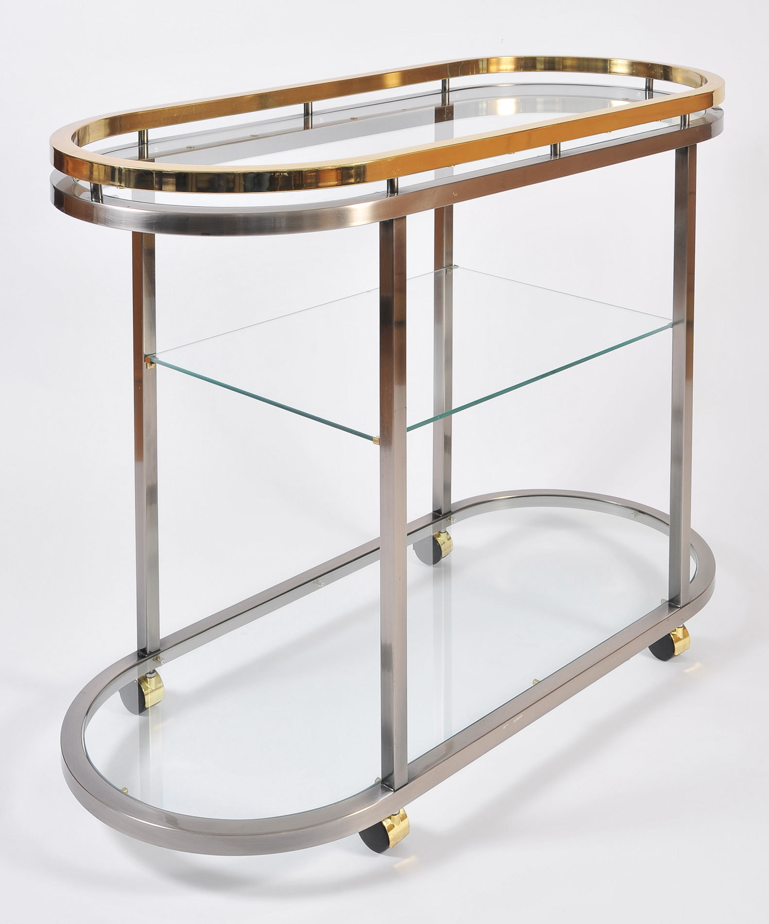 Us Chrome Brass Trolley 04