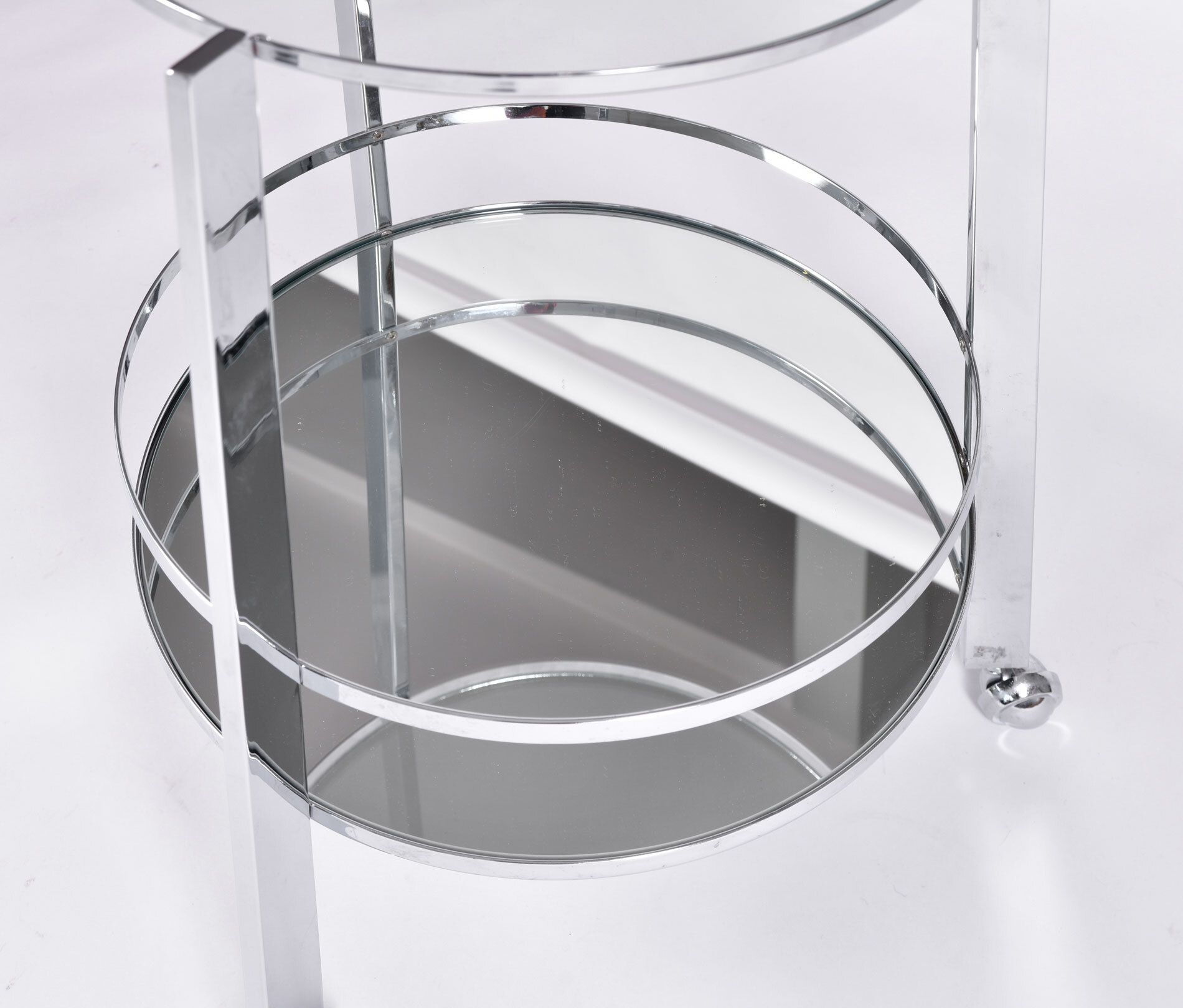 Us Circular Chrome Drinks Trolley 03