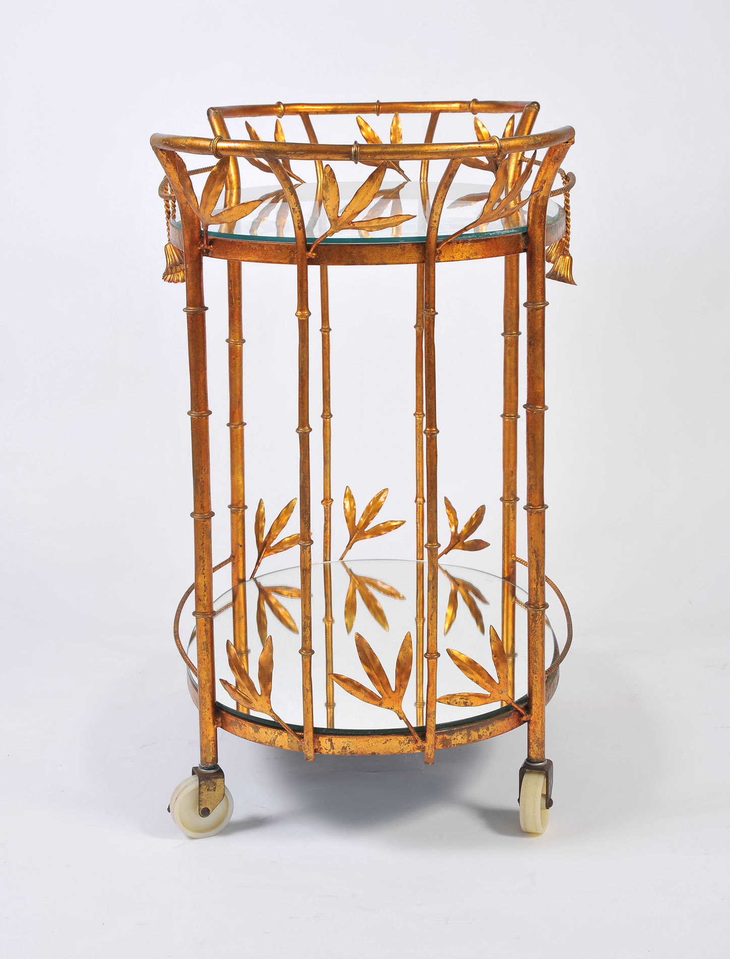 Us Gilded Bamboo Leaves Trolley 02
