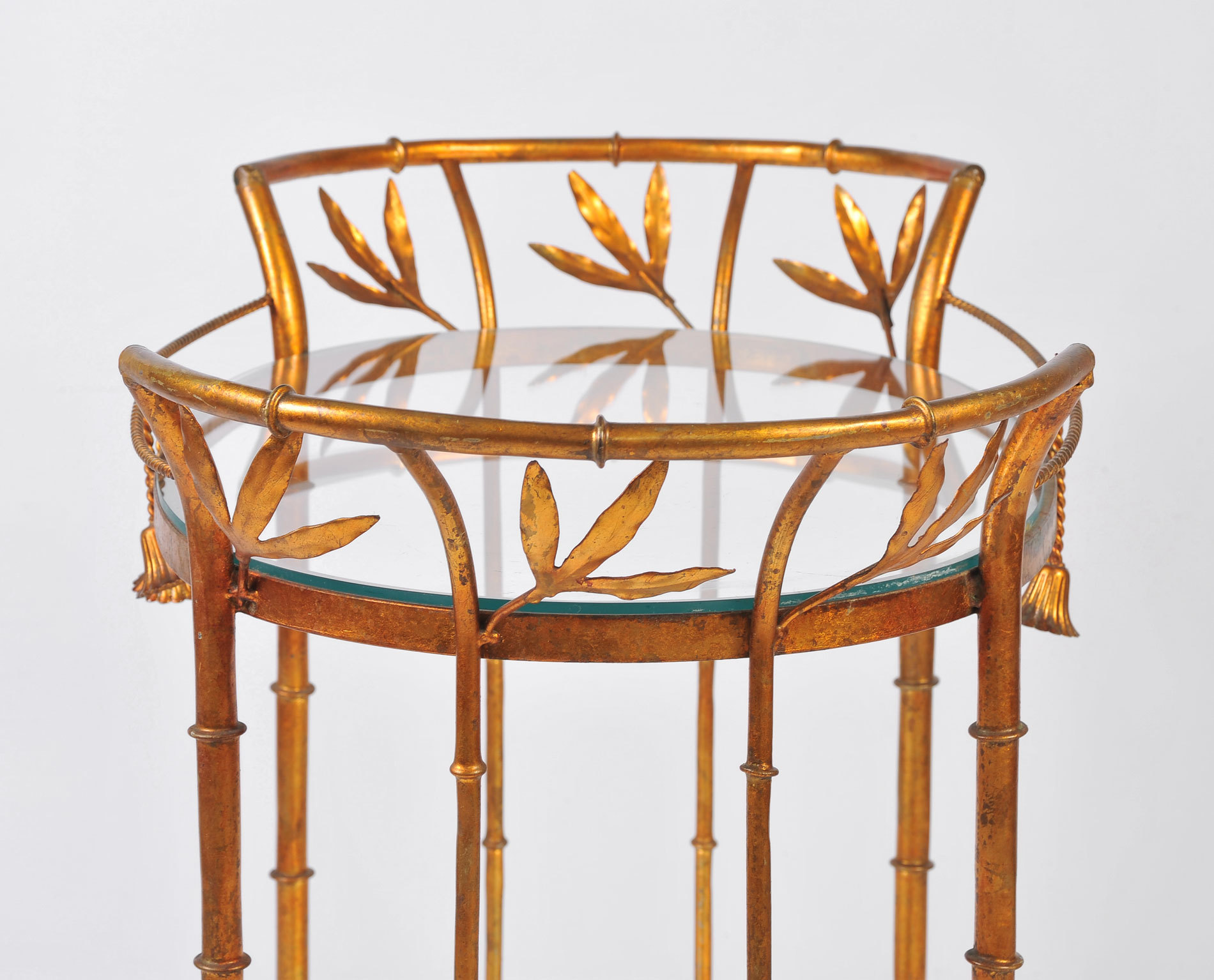 Us Gilded Bamboo Leaves Trolley 03