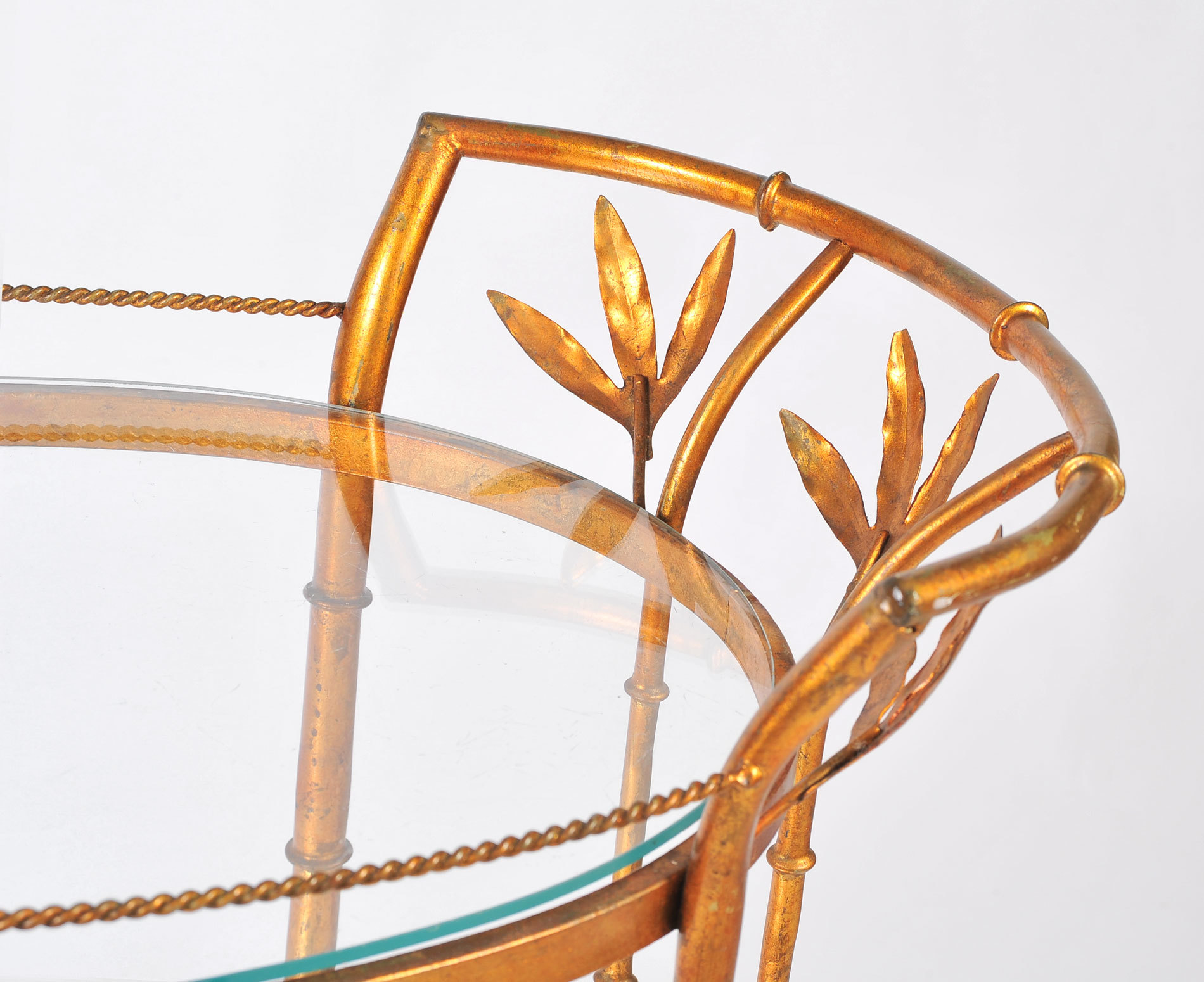 Us Gilded Bamboo Leaves Trolley 06