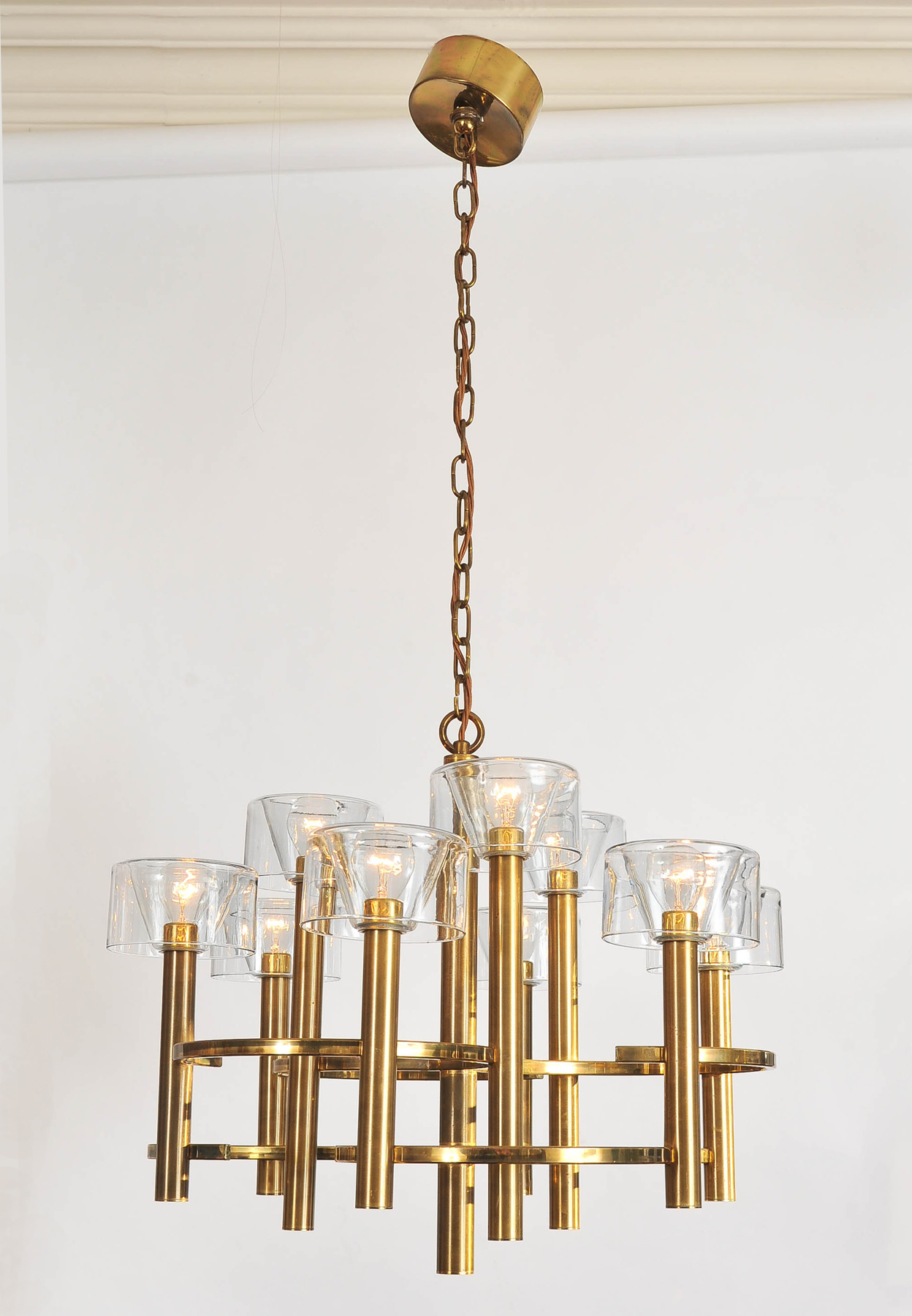 Valerie Wade 1950S Italian Brass Chenadelier 03