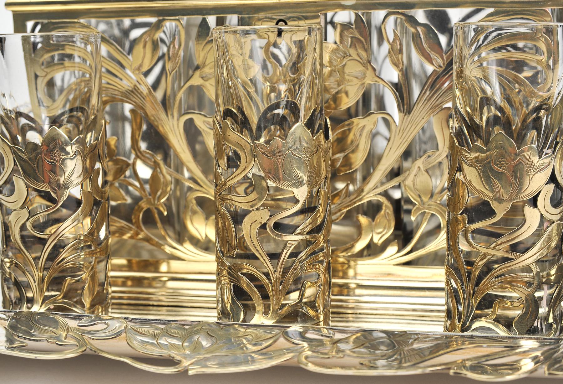 Valerie Wade Bohemian Silver Glass Drinks Set 06