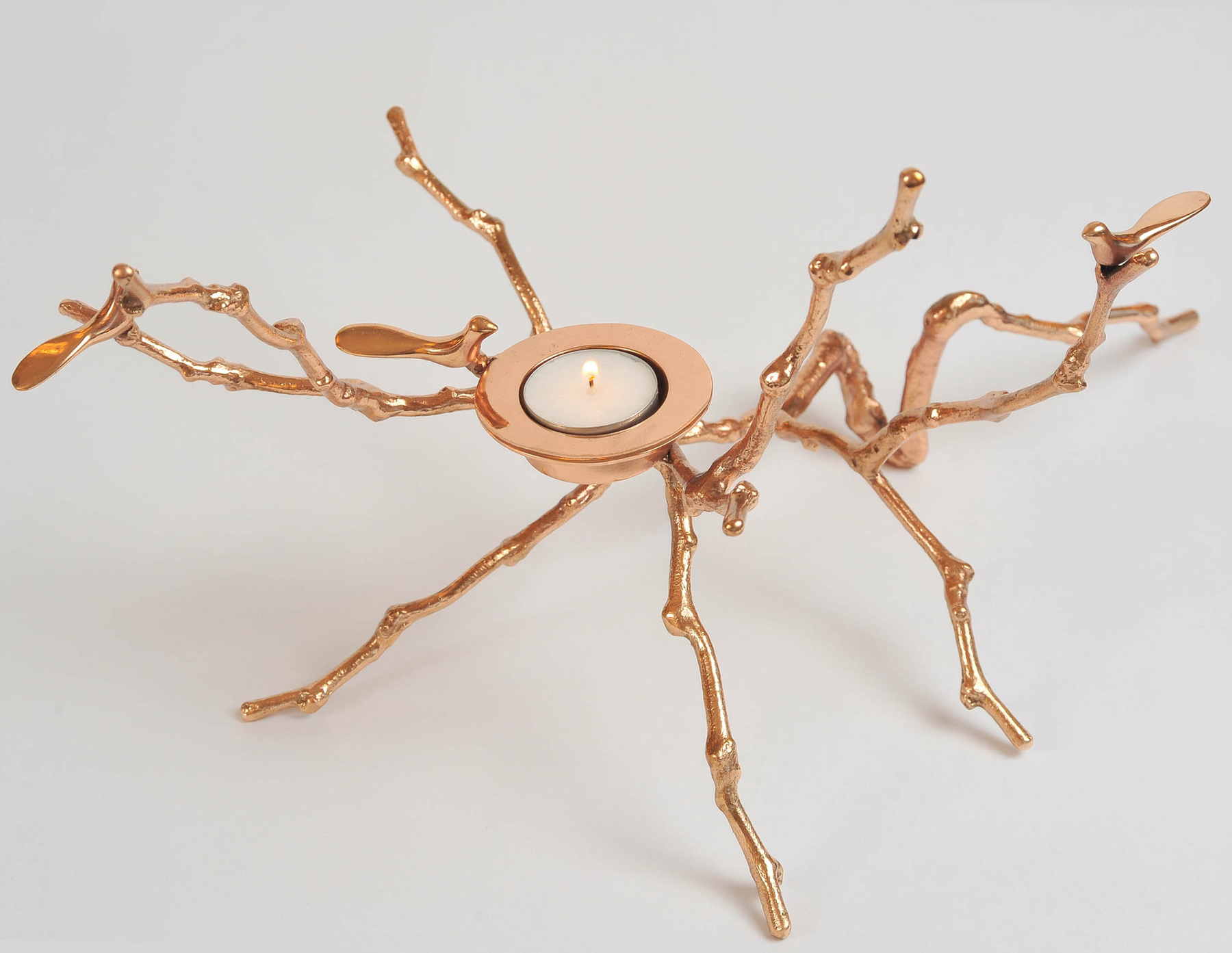 Valerie Wade Brass Twig Candle Holder 02