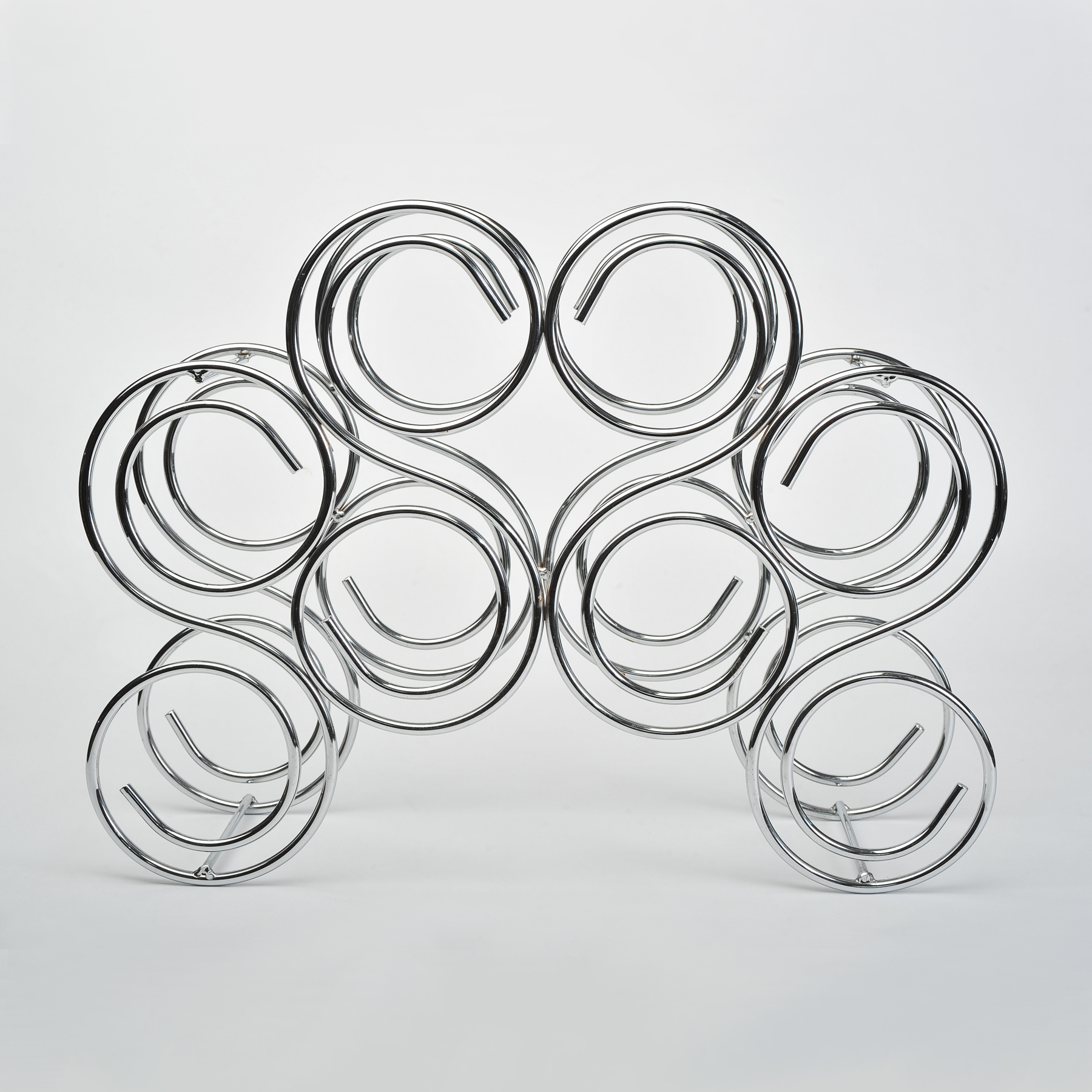 The image for Valerie Wade Chrome Bottle Rack 01