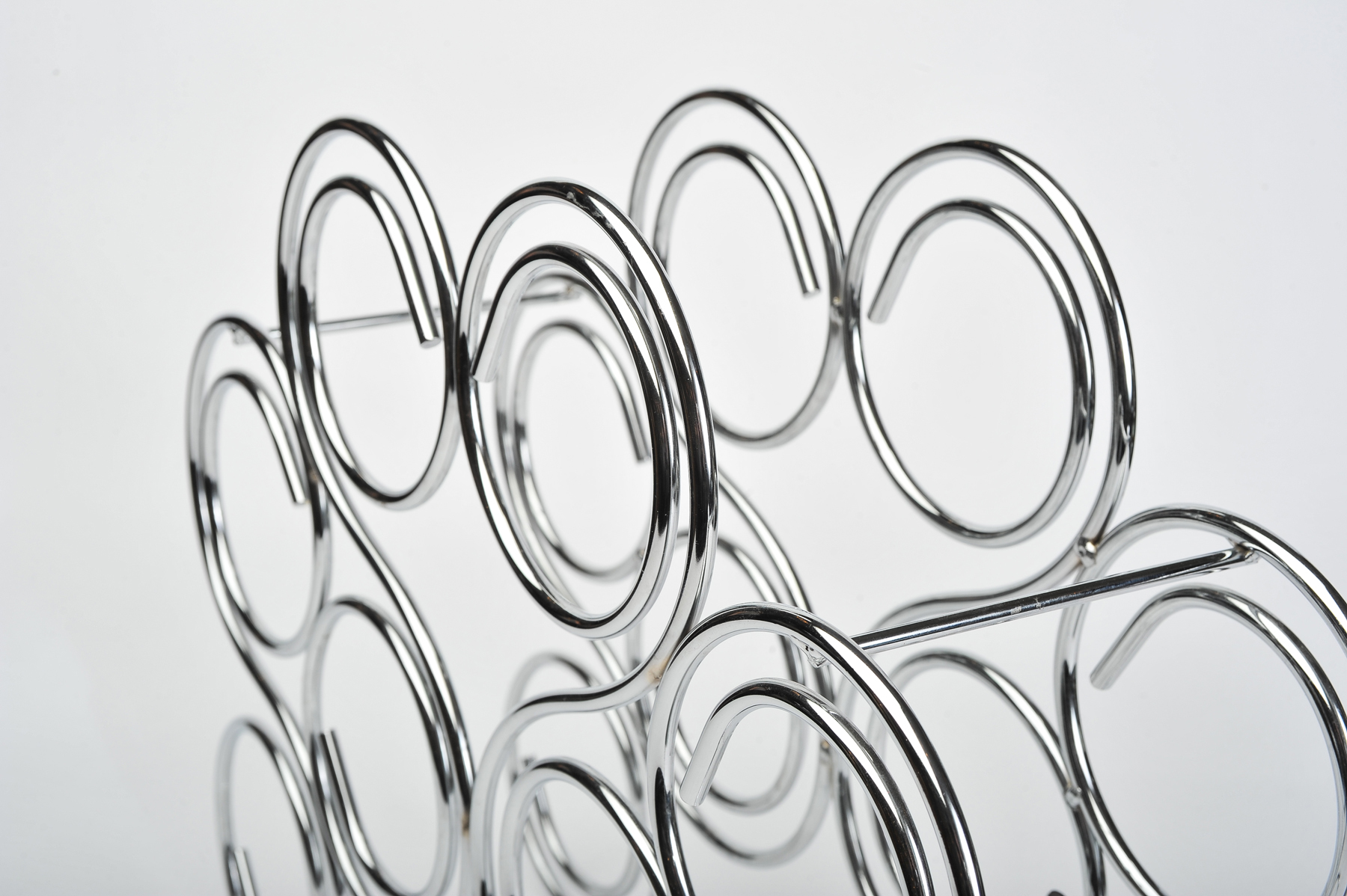 The image for Valerie Wade Chrome Bottle Rack 03