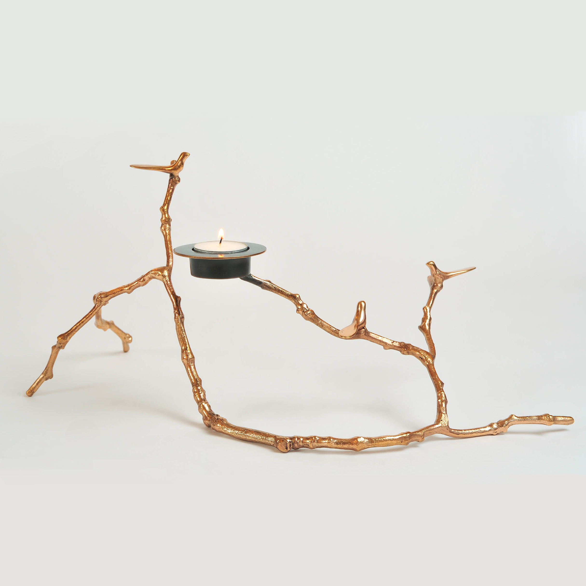 The image for Valerie Wade Twig Candle Holder Copper 02
