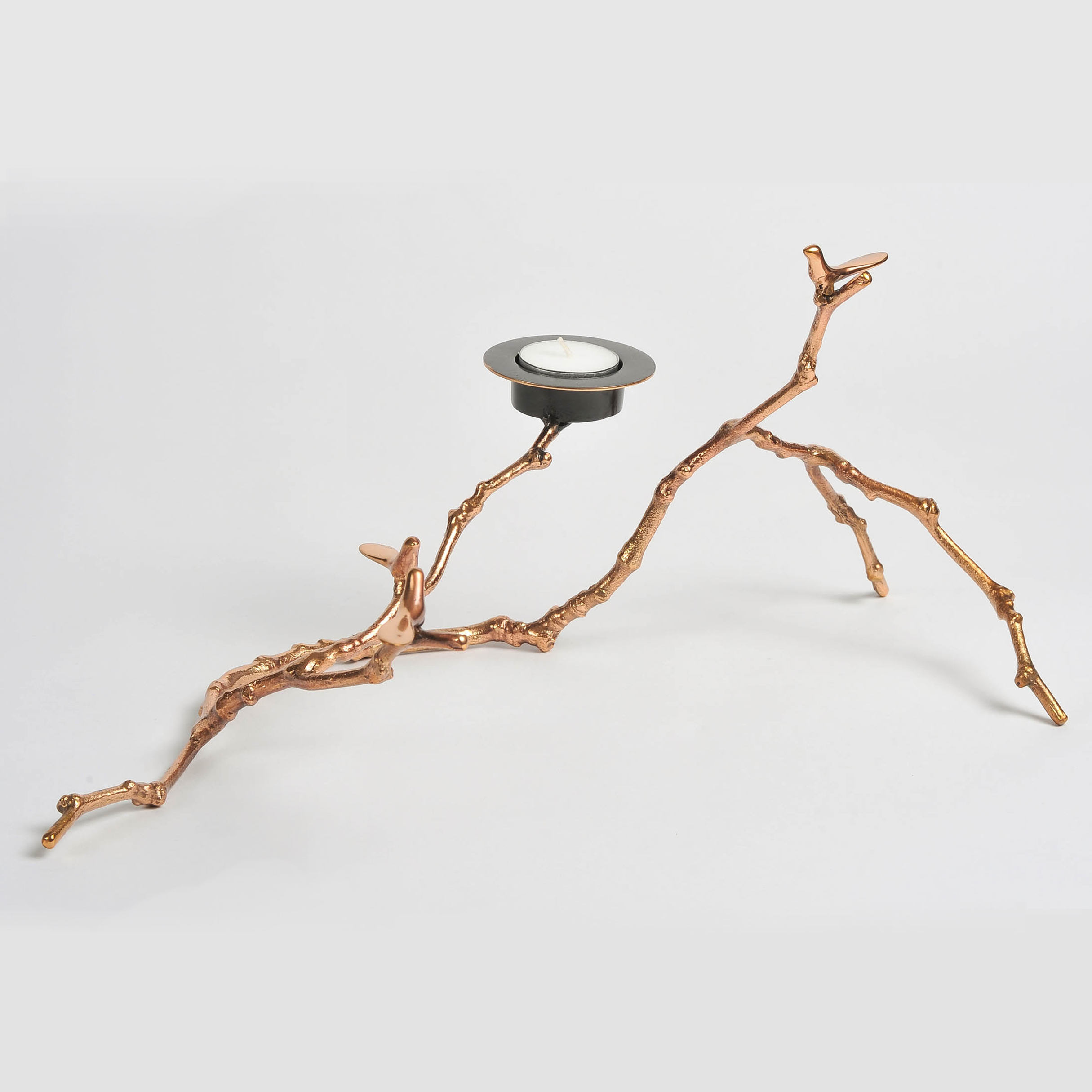 The image for Valerie Wade Twig Candle Holder Copper 03