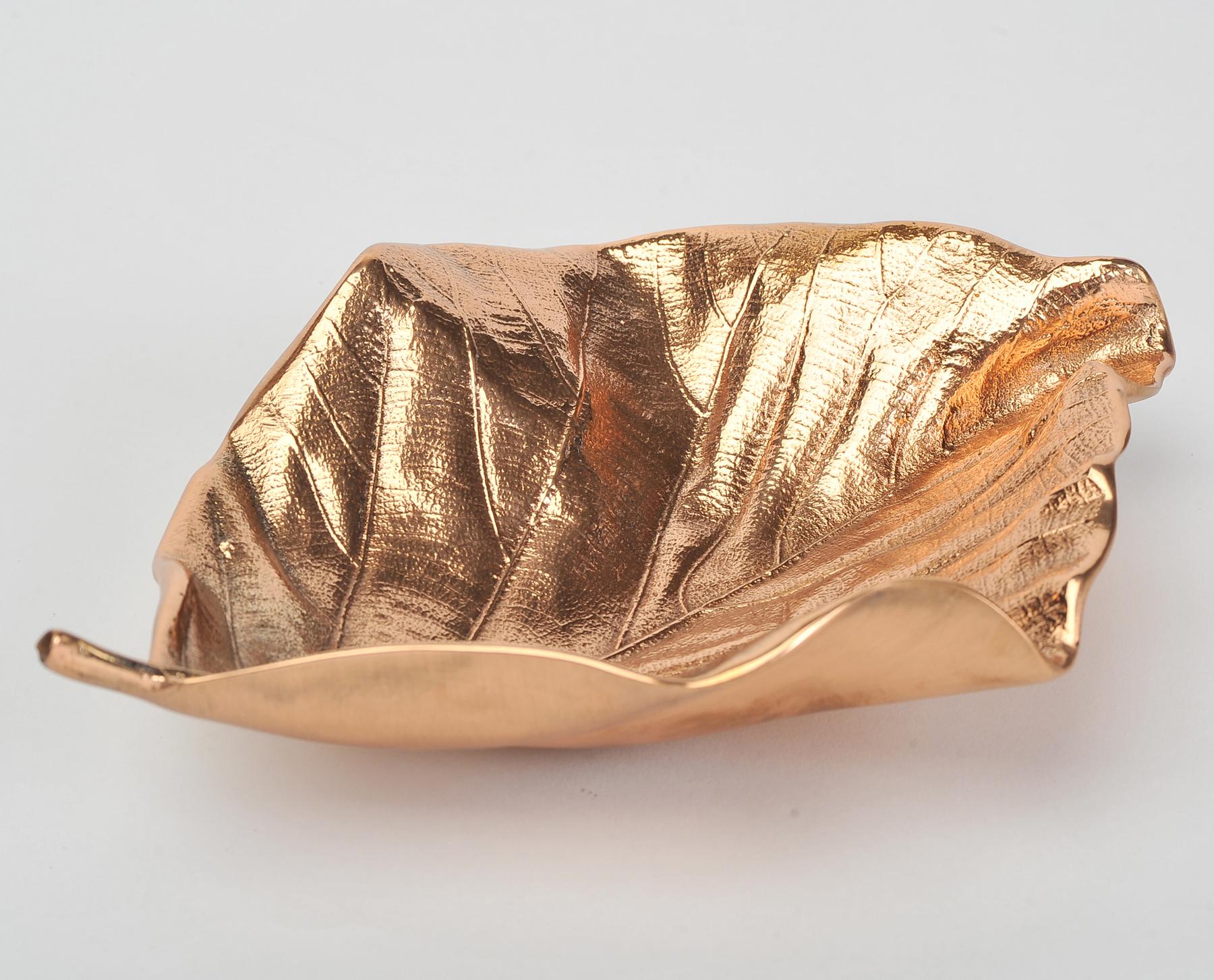 Valerie Wade Cast Bronze Leaf Small 02