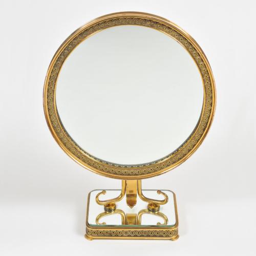1940S Brass Table Mirror–01