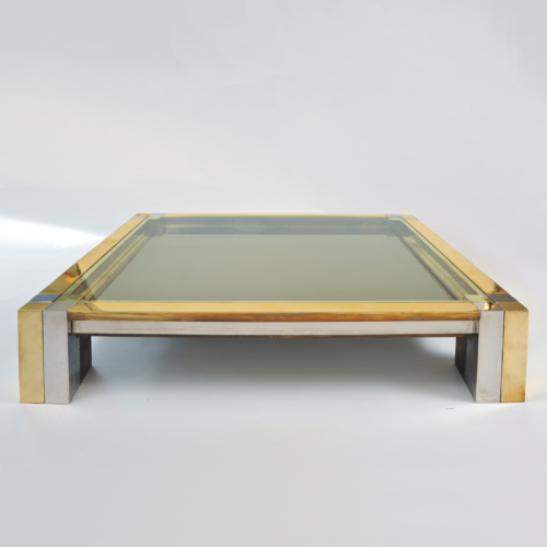 Brass Chrome Coffee Table 01