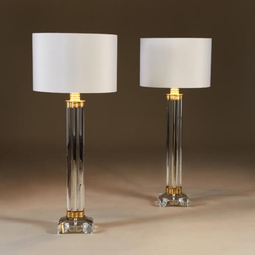 Clear Crystal Column Lamps 171 V1