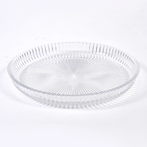 Fluted Glass Circular Tray 01