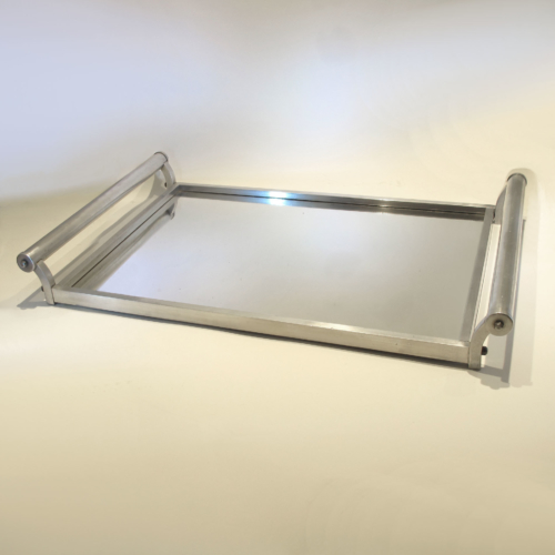 French Chrome Rectangular Tray 01