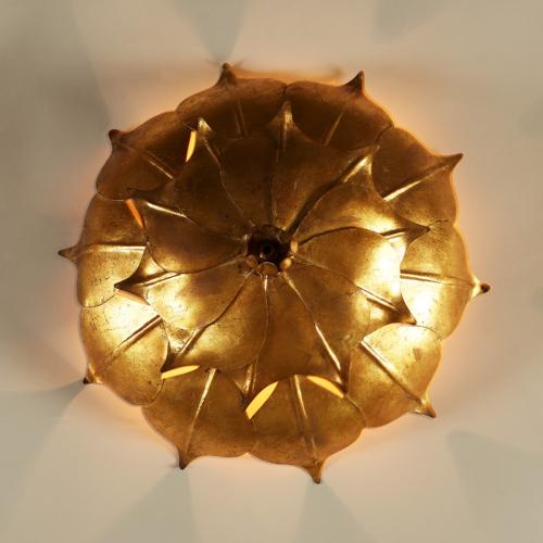 Gold Leaf Wall Light 20210427 0099 V1