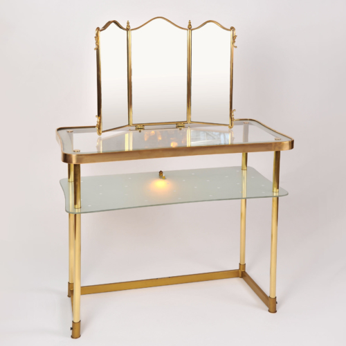 Italian Brass Dressing Table 01
