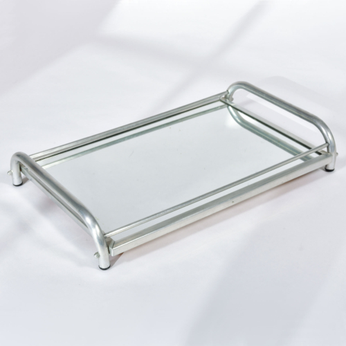 Large Chrome Mirrored Tray 01