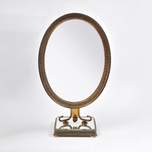 Oval Filligree Mirror 01