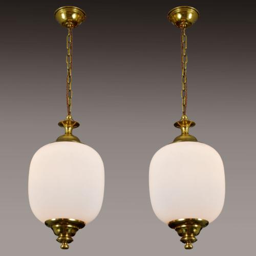 Pair 1950S Italian Brass Pendants 01