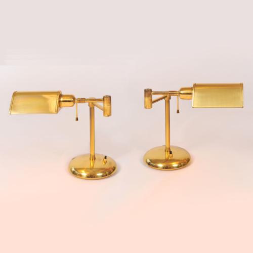 Pair Brass Desk Lamps 01