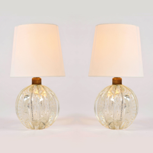 Pair Clear Ball Lamps 01