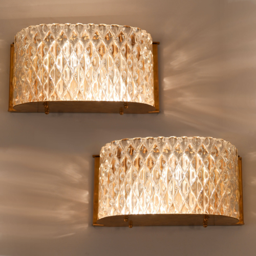 Pair Italian 1950S Curved Wall Lights 01