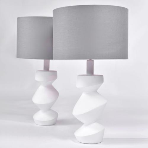 Pair Savoy Lamps Natural Plaster 01