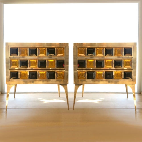 Pair Jewelled Cabinets 01