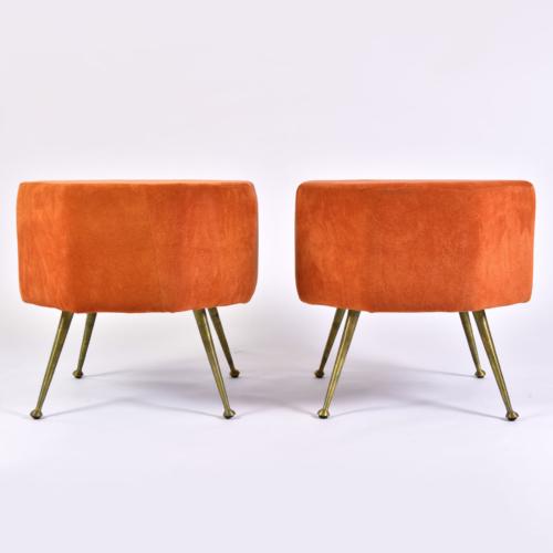 Pair Of Orange Stools 01