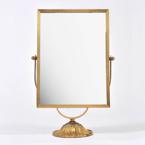 Rectangular Brass Table Mirror 01