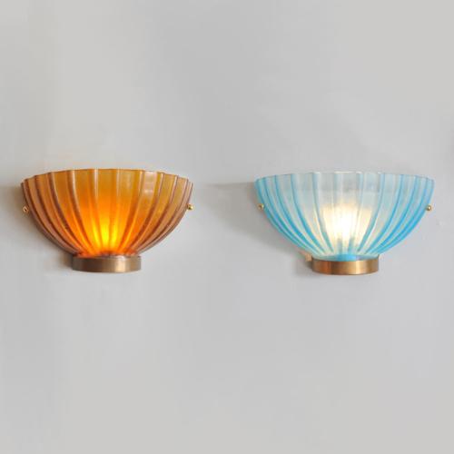Two Seguso Scallop Lights 01 Vw