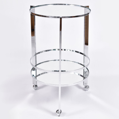 Us Circular Chrome Drinks Trolley 01