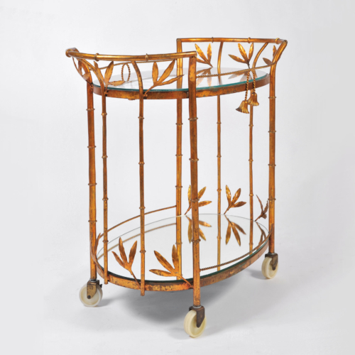 Us Gilded Bamboo Leaves Trolley 01