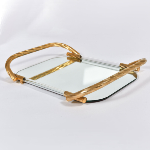 Brass And Mirror Tray 01