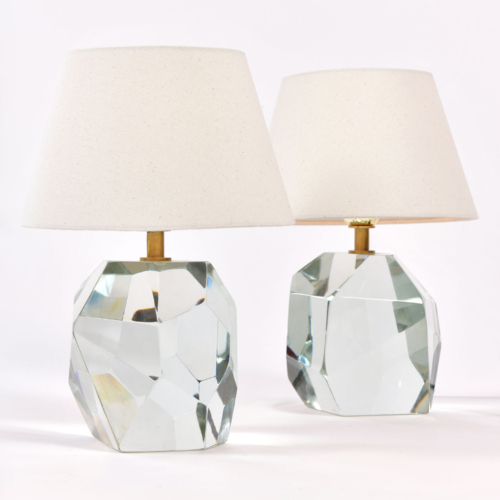 Pair Clear Rock Lamps 02