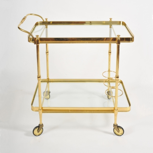 Valerie Wade Ams656 1950S Italian Brass Drinks Trolley 01
