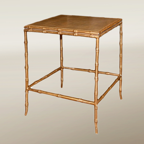 Valerie Wade Ft232 Faux Bamboo Shagreen Side Table 01