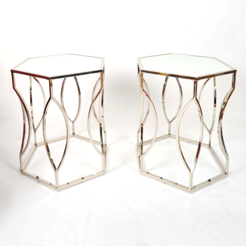 Valerie Wade Ft598 Pair 1960S Us Hexagonal Side Tables01