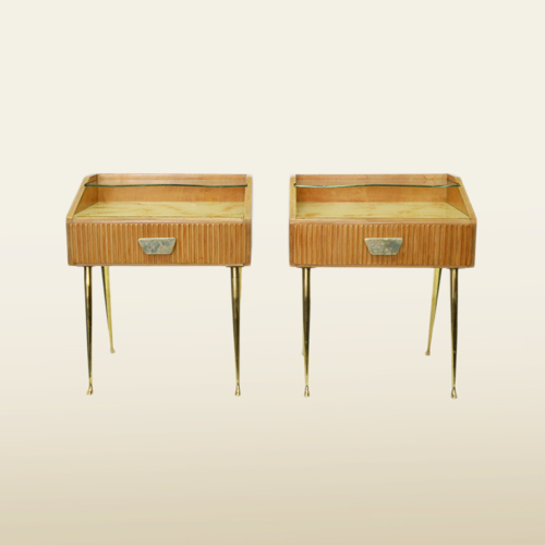 Valerie Wade Ft630 Pair 1950S Italian Bedside Tables 01
