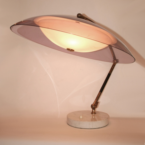 Valerie Wade Lt629 1950S Italian Articulated Dome Lamp Stilux 01