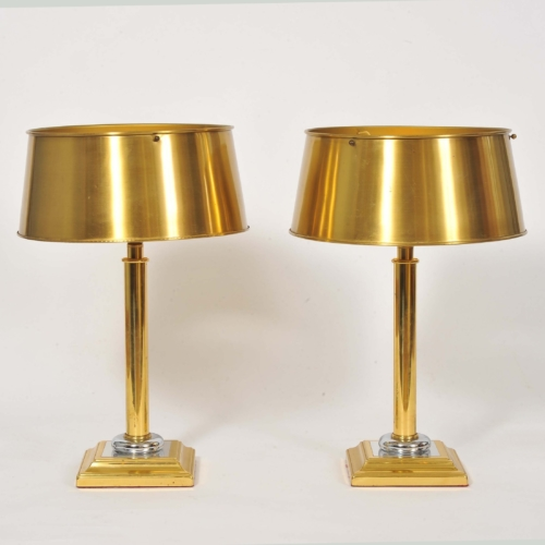 Valerie Wade Lt671 Pair 1950S French Brass Lamps 01