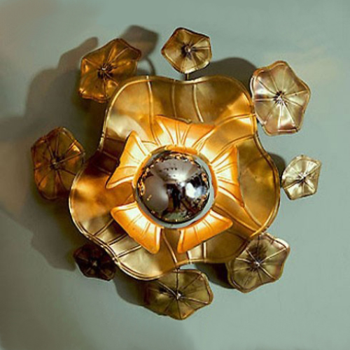 Valerie Wade Lw091 Single Lotus Flower Wall Light 01