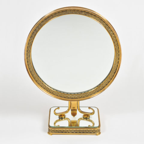1940S Brass Table Mirror–01