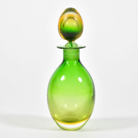 1950S Green Yellow Murano Decanter 01