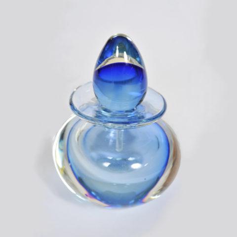 Blue Glass Perfum Bottle