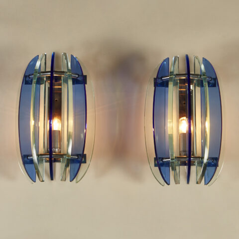 Blue Green Veca Wall Lights 0186 V1