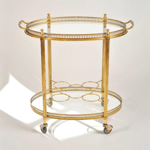 Brass Drinks Trolley 01