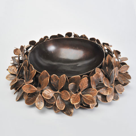 Cast Bronze Leaf Bowl 01