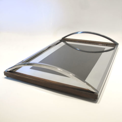 Chrome Wood Tray 01