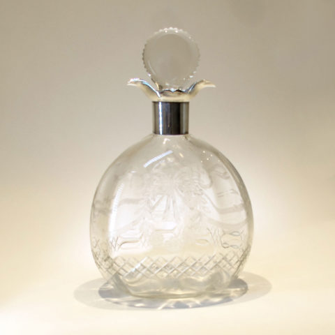 Etched Glass Decanter 01